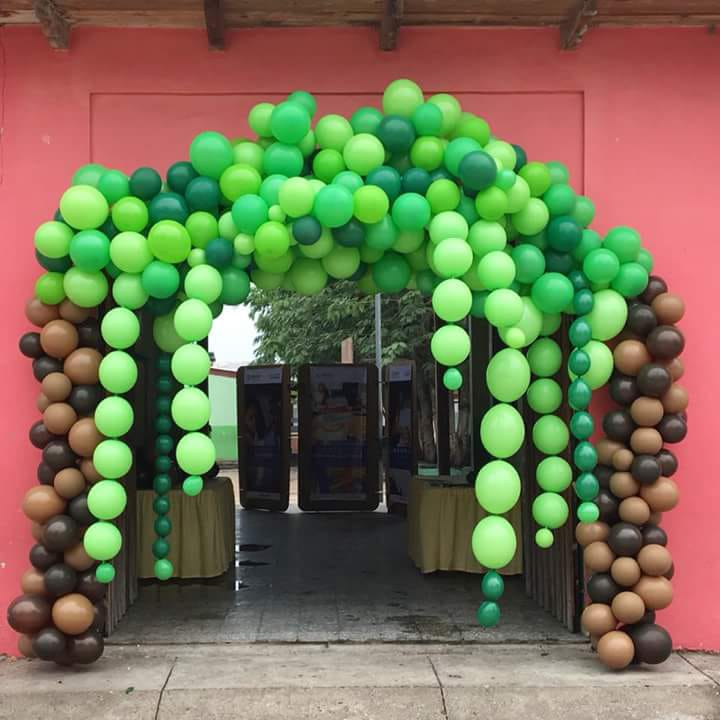 Entrance arch  balloon decoration