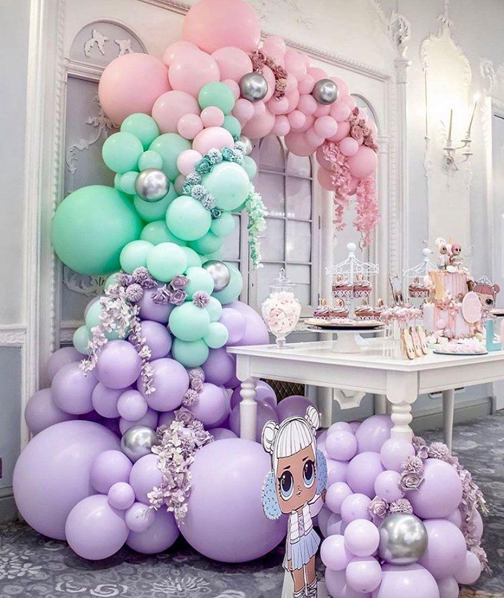 beautiful balloon wall drop decoration